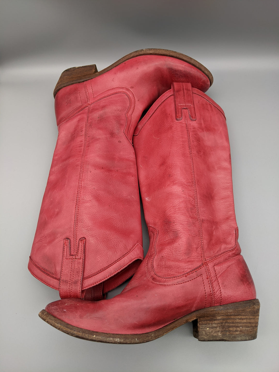 Photo #4 - BRAND: FRYE <BR>STYLE: BOOTS KNEE <BR>COLOR: RED <BR>SIZE: 6.5 <BR>SKU: 115-115336-4192<BR>SOME WEAR