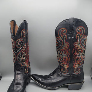 Primary Photo - BRAND: ARIAT STYLE: BOOTS KNEE COLOR: BLACK SIZE: 9 OTHER INFO: RED AND ORANGE STICHING SKU: 115-115314-11134