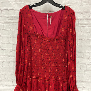 Primary Photo - BRAND: FREE PEOPLE STYLE: DRESS SHORT LONG SLEEVE COLOR: RED SIZE: M OTHER INFO: SQUARE NECK SKU: 115-115314-10636