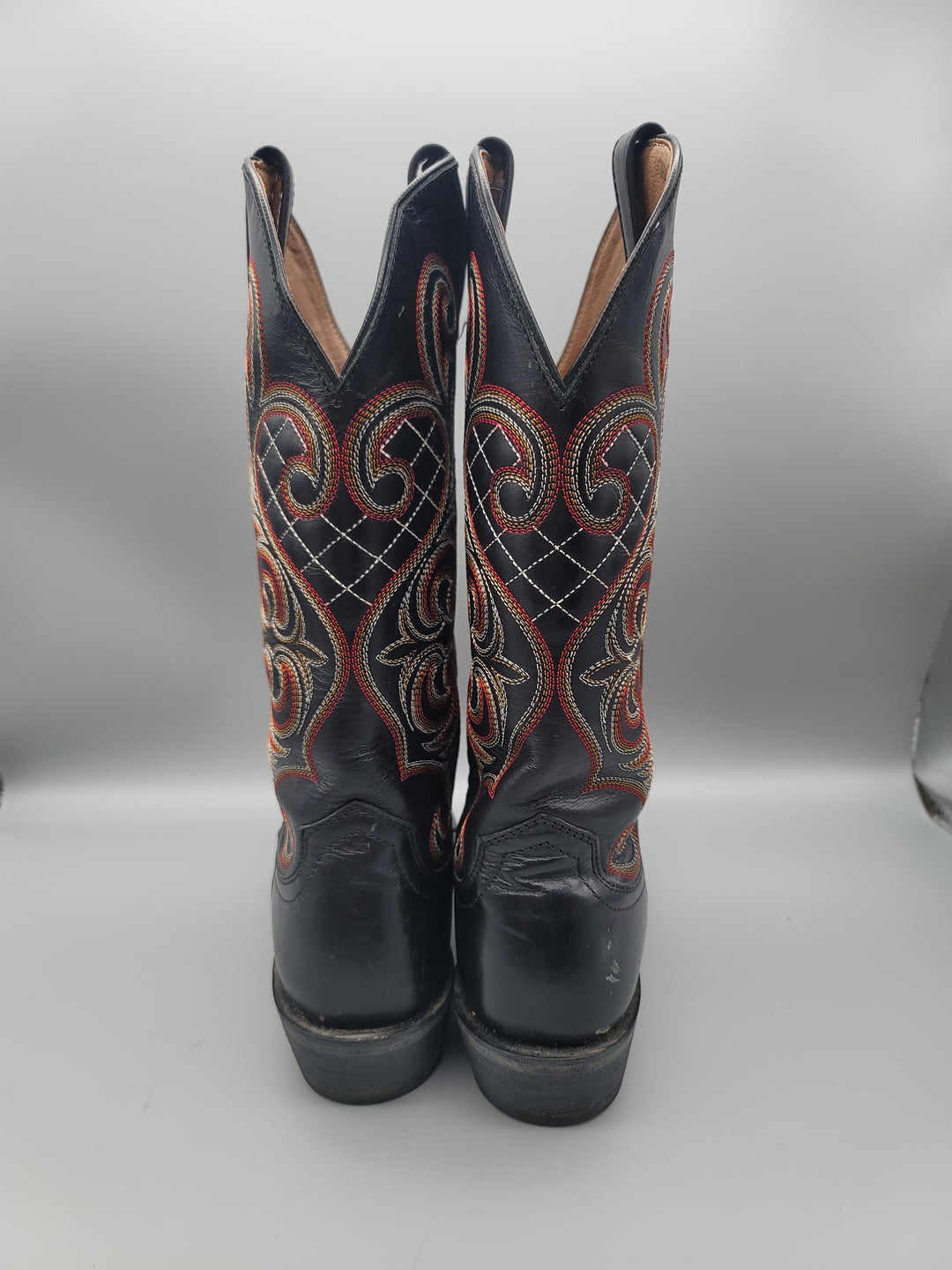 Photo #2 - BRAND: ARIAT <BR>STYLE: BOOTS KNEE <BR>COLOR: BLACK <BR>SIZE: 9 <BR>OTHER INFO: RED AND ORANGE STICHING <BR>SKU: 115-115314-11134