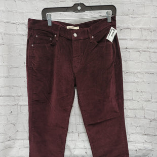Primary Photo - BRAND: LEVIS STYLE: PANTS COLOR: MAROON SIZE: 10 SKU: 115-115338-3214