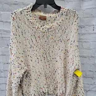 Primary Photo - BRAND: POL STYLE: SWEATER LIGHTWEIGHT COLOR: CREAM SIZE: M OTHER INFO: RAINBOW SPRINKLES SKU: 115-115347-964PURPOSEFULLY DISTRESSED