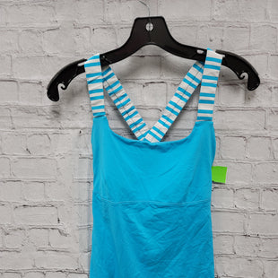 Primary Photo - BRAND: LULULEMON STYLE: ATHLETIC TANK TOP COLOR: BLUE WHITE SIZE: S SKU: 115-115338-4582