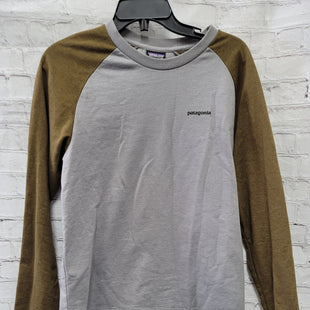 Primary Photo - BRAND: PATAGONIA STYLE: TOP LONG SLEEVE COLOR: GREY SIZE: M OTHER INFO: BROWN SLEEVES SKU: 115-115309-17522