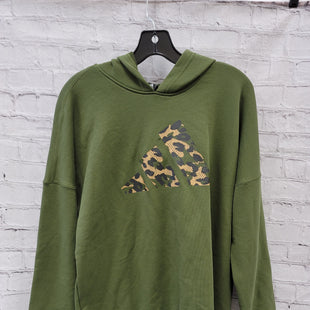 Primary Photo - BRAND: ADIDAS STYLE: SWEATSHIRT HOODIE COLOR: OLIVE SIZE: XS SKU: 115-115302-18357