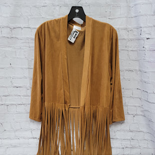 Primary Photo - BRAND:    CLOTHES MENTOR STYLE: SWEATER LIGHTWEIGHT COLOR: TAN SIZE: L OTHER INFO: GOLDSPARK - FRINGE SKU: 115-115360-702