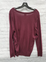 Photo #1 - BRAND: A NEW DAY <BR>STYLE: SWEATER LIGHTWEIGHT <BR>COLOR: MAROON <BR>SIZE: XXL <BR>SKU: 115-115335-3195