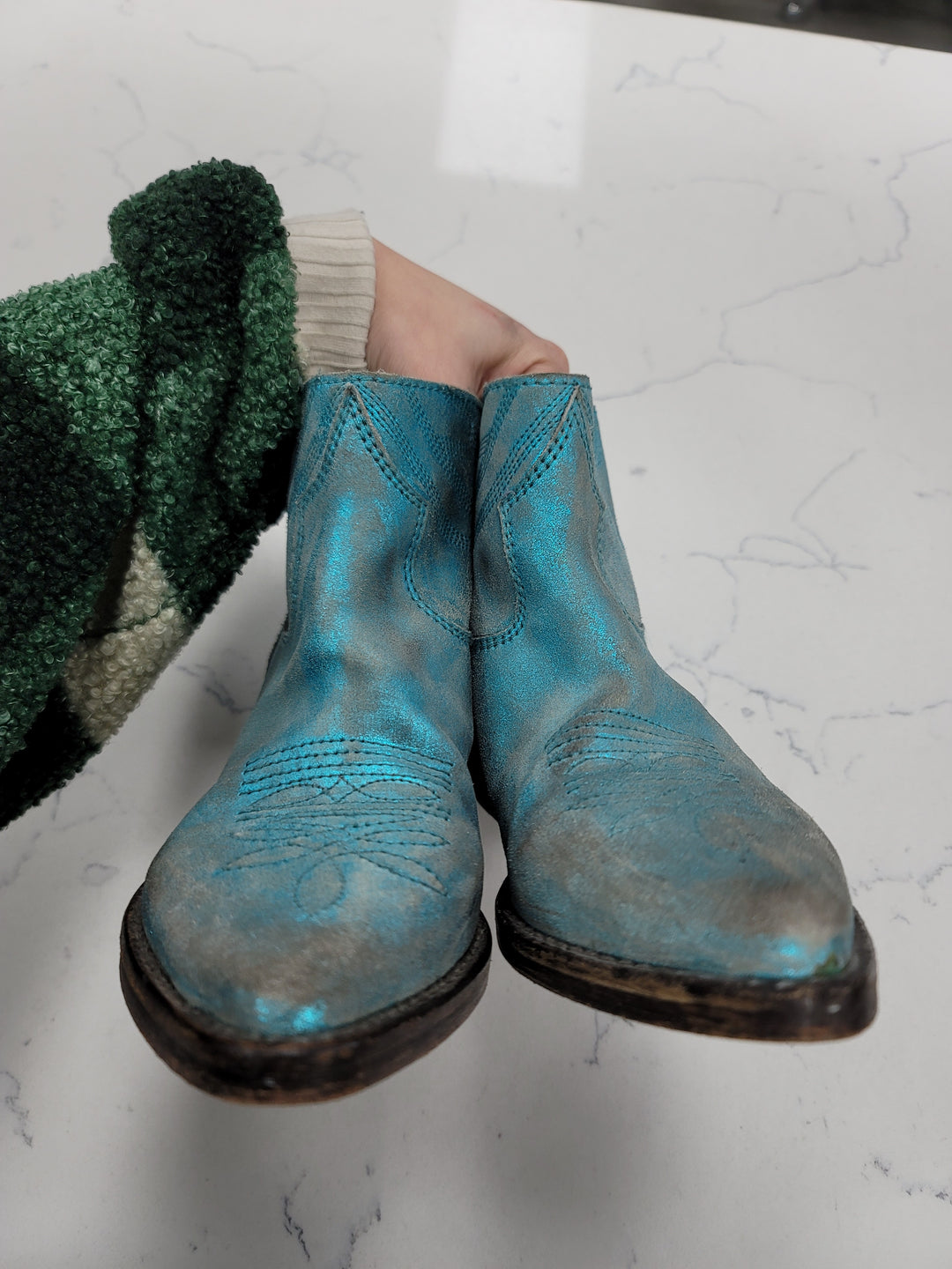 Photo #4 - BRAND:  CMB <BR>STYLE: BOOTS ANKLE <BR>COLOR: TEAL <BR>SIZE: 7 <BR>OTHER INFO: MR WOLF - <BR>SKU: 115-115340-4752