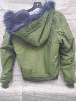 Photo #1 - BRAND:    CLOTHES MENTOR <BR>STYLE: JACKET OUTDOOR <BR>COLOR: OLIVE <BR>SIZE: S <BR>OTHER INFO: ALPHA  - <BR>SKU: 115-115302-16578