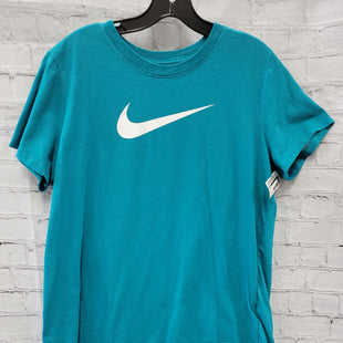 Primary Photo - BRAND: NIKE STYLE: ATHLETIC TOP SHORT SLEEVE COLOR: TEAL SIZE: XL SKU: 115-115309-17380