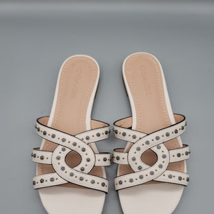 Primary Photo - BRAND: COACH STYLE: SANDALS FLAT COLOR: IVORY SIZE: 9 SKU: 115-115309-16578