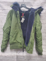 Photo #3 - BRAND:    CLOTHES MENTOR <BR>STYLE: JACKET OUTDOOR <BR>COLOR: OLIVE <BR>SIZE: S <BR>OTHER INFO: ALPHA  - <BR>SKU: 115-115302-16578