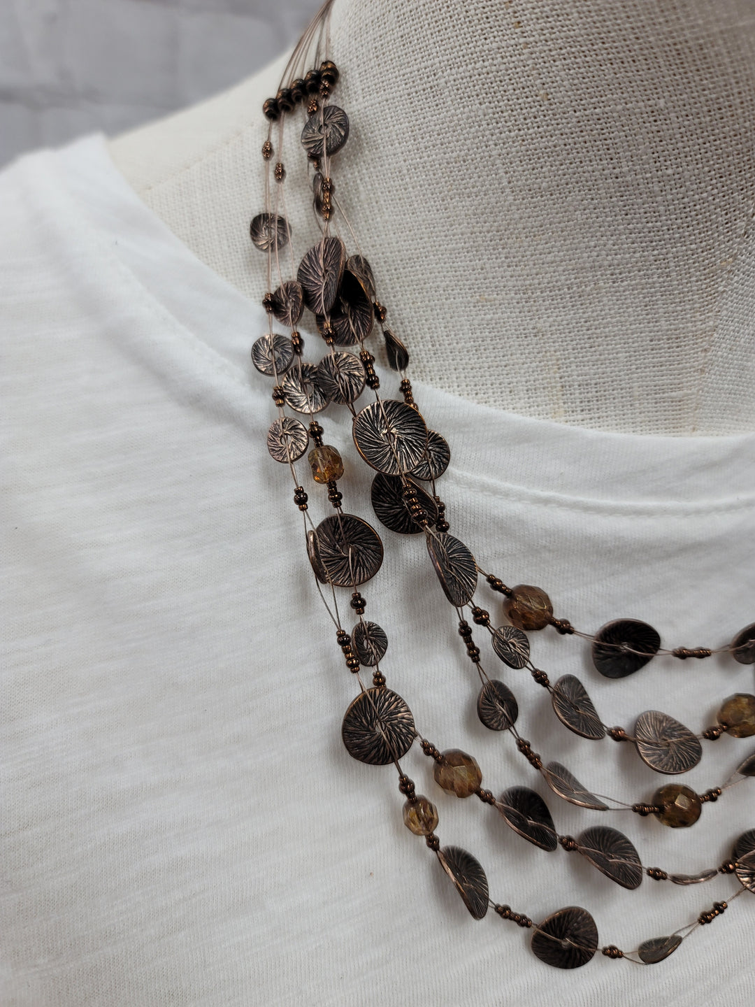 Photo #1 - BRAND: CHICOS <BR>STYLE: NECKLACE <BR>COLOR: BROWN <BR>OTHER INFO: AS IS*** <BR>SKU: 115-115340-4547
