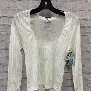 Primary Photo - BRAND: FREE PEOPLE STYLE: TOP LONG SLEEVE COLOR: WHITE SIZE: M OTHER INFO: NEW! SKU: 115-115360-2048