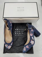 Primary Photo - BRAND: WHITE HOUSE BLACK MARKET <BR>STYLE: SHOES LOW HEEL <BR>COLOR: BLUE <BR>SIZE: 7.5 <BR>OTHER INFO: NEW IN BOX WITH DUST BAGS <BR>SKU: 115-115314-10167