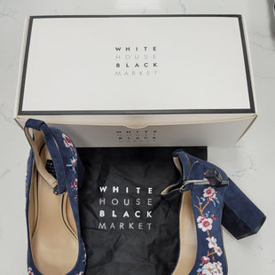 Primary Photo - BRAND: WHITE HOUSE BLACK MARKET STYLE: SHOES LOW HEEL COLOR: BLUE SIZE: 7.5 OTHER INFO: NEW IN BOX WITH DUST BAGS SKU: 115-115314-10167