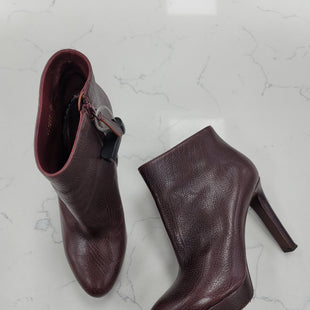 Primary Photo - BRAND: ALEXANDER MCQUEEN STYLE: BOOTS DESIGNER COLOR: BURGUNDY SIZE: 9 OTHER INFO: ** SKU: 115-115347-3551