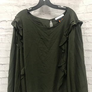 Primary Photo - BRAND: ELOQUII STYLE: TOP LONG SLEEVE COLOR: OLIVE SIZE: 3X OTHER INFO: NWT RUFFLES SKU: 115-115302-18677