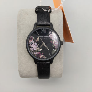 Primary Photo - BRAND:    CLOTHES MENTOR STYLE: WATCH COLOR: BLACK OTHER INFO: OLIVIA BURTON - FLORAL FACE SKU: 115-115302-18063SOME WEAR