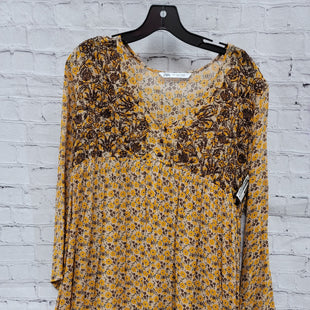 Primary Photo - BRAND: ZARA BASIC STYLE: DRESS SHORT LONG SLEEVE COLOR: YELLOW SIZE: S OTHER INFO: FLORAL SKU: 115-115314-11390