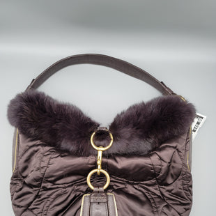 Primary Photo - BRAND: COACH STYLE: HANDBAG COLOR: BROWN SIZE: MEDIUM OTHER INFO: RABBIT FUR SKU: 115-115309-18495