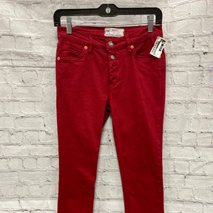 Primary Photo - BRAND: FREE PEOPLE STYLE: PANTS COLOR: RED SIZE: 4 SKU: 115-115309-15743