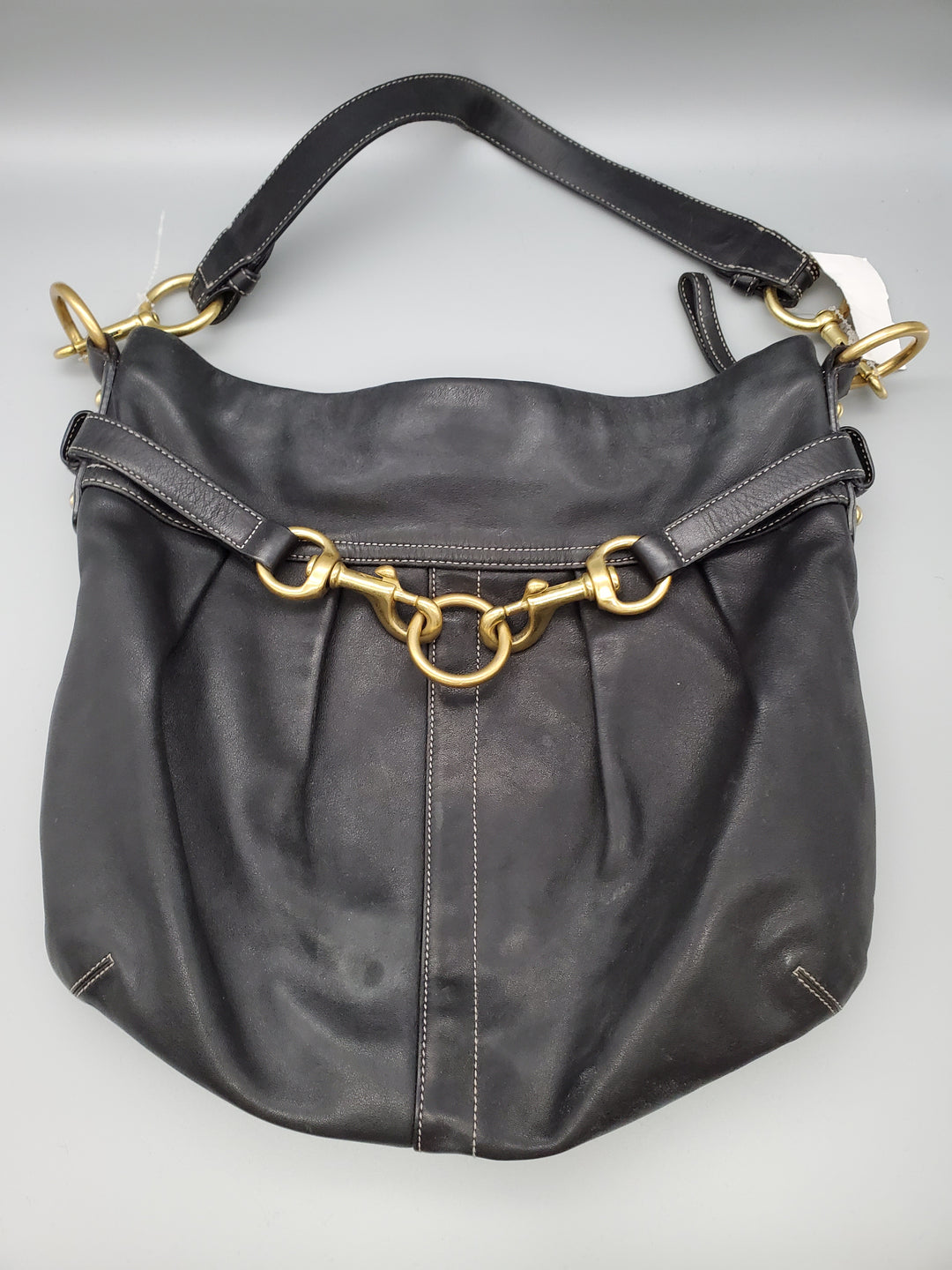 Primary Photo - BRAND: COACH <BR>STYLE: HANDBAG <BR>COLOR: BLACK <BR>SIZE: LARGE <BR>OTHER INFO: ** <BR>SKU: 115-115260-86463<BR>MODERATE WEAR ON LEATHER