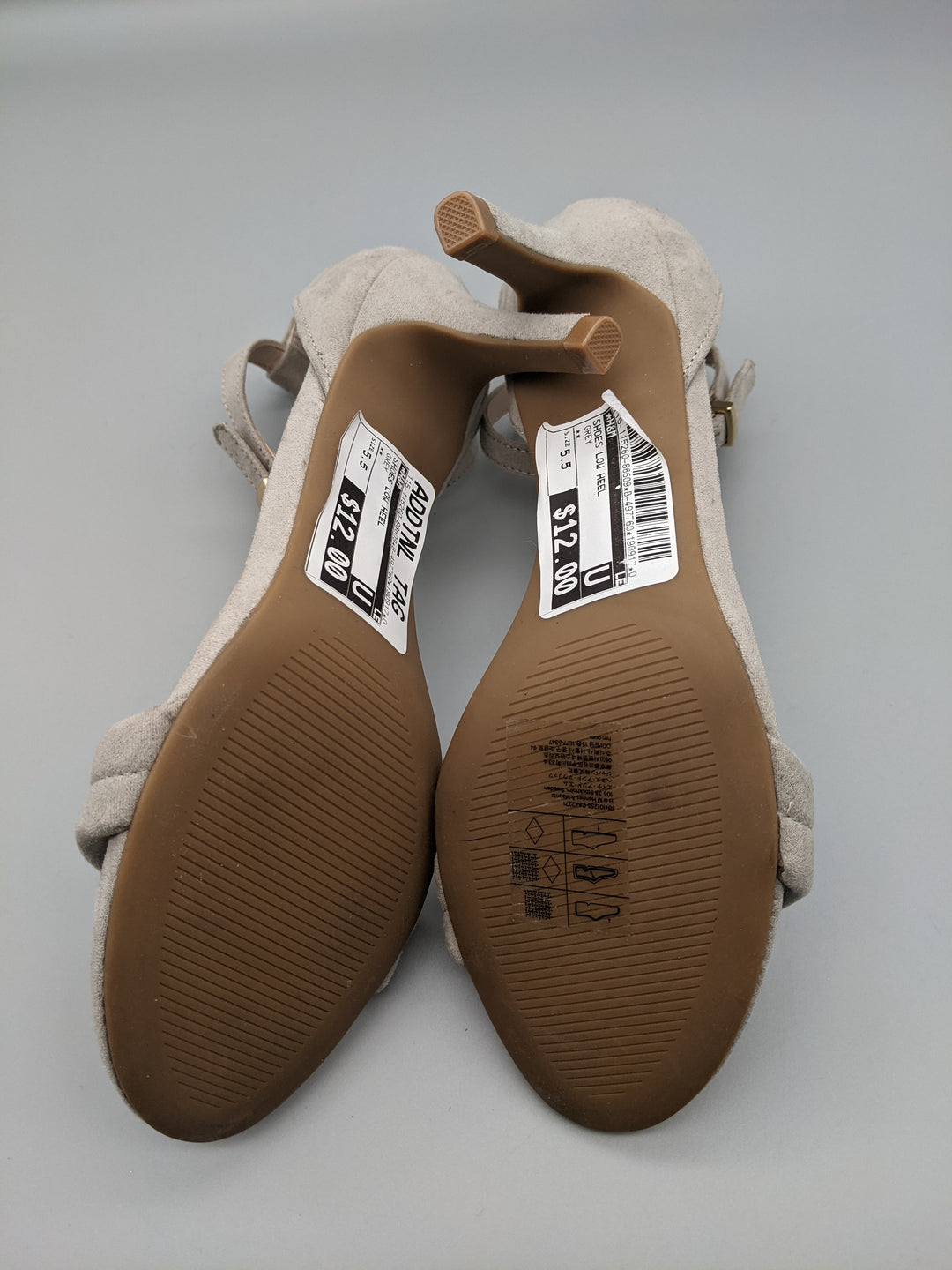 Photo #2 - BRAND: H&M <BR>STYLE: SHOES LOW HEEL <BR>COLOR: GREY <BR>SIZE: 5.5 <BR>OTHER INFO: ** <BR>SKU: 115-115260-86609