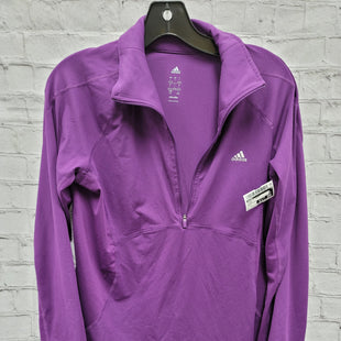Primary Photo - BRAND: ADIDAS STYLE: ATHLETIC JACKET COLOR: PURPLE SIZE: L OTHER INFO: QUARTER-ZIP SKU: 115-115347-2591