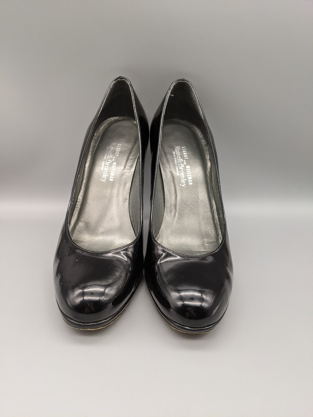 Photo #1 - BRAND: STUART WEITZMAN <BR>STYLE: SHOES HIGH HEEL <BR>COLOR: BLACK <BR>SIZE: 7.5 <BR>OTHER INFO: RUSSEL AND BROMLEY ** <BR>SKU: 115-115314-9670