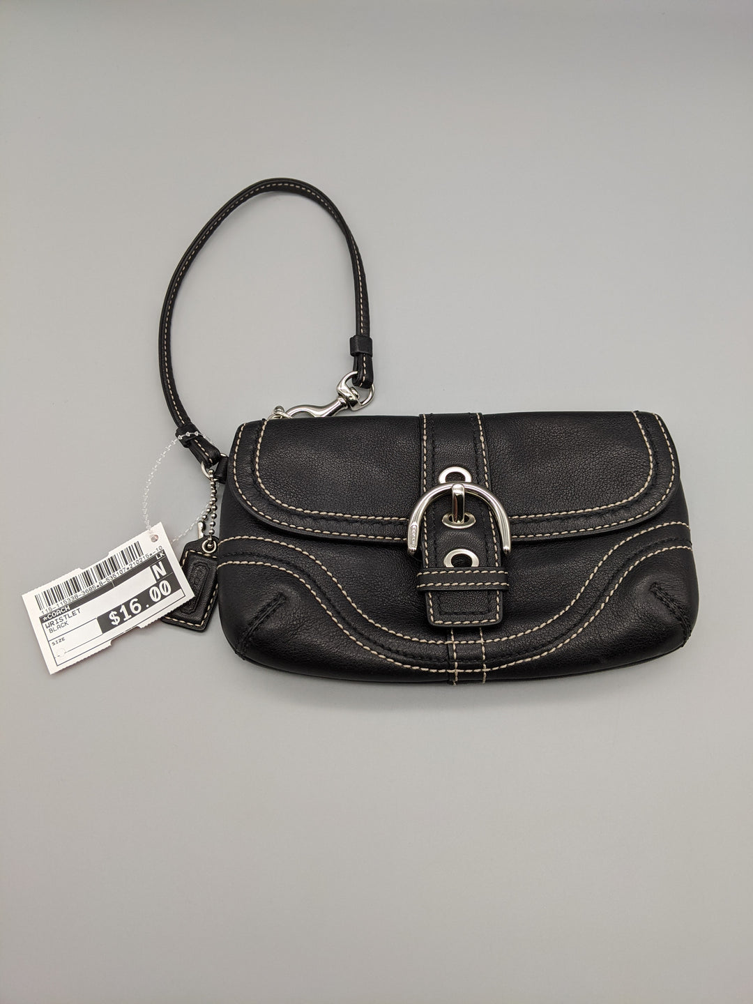 Primary Photo - BRAND: COACH <BR>STYLE: WRISTLET <BR>COLOR: BLACK <BR>SKU: 115-115338-3685<BR>SOME WEAR