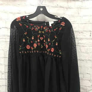 Primary Photo - BRAND: JAPNA STYLE: BLOUSE COLOR: BLACK SIZE: S OTHER INFO: SHEER- EMBROIDR FLWRS SKU: 115-115257-29728