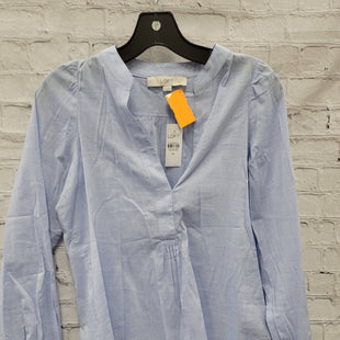 Primary Photo - BRAND: ANN TAYLOR LOFT STYLE: TOP LONG SLEEVE COLOR: BABY BLUE SIZE: XS SKU: 115-115335-3743