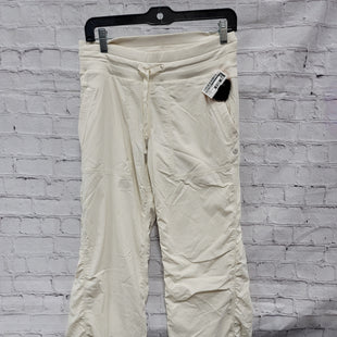 Primary Photo - BRAND: LULULEMON STYLE: ATHLETIC PANTS COLOR: CREAM SIZE: 6 OTHER INFO: ***AS IS*** SKU: 115-115340-4883