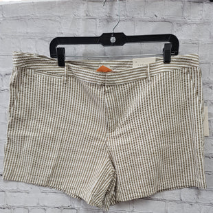 Primary Photo - BRAND: A NEW DAY STYLE: SHORTS COLOR: TAN SIZE: 18 OTHER INFO: WHITE STRIPES SKU: 115-115309-19292