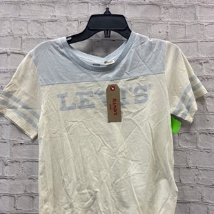 Primary Photo - BRAND: LEVIS STYLE: TOP SHORT SLEEVE COLOR: WHITE SIZE: M OTHER INFO: NWT BLUE SKU: 115-115260-94493