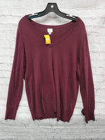 Primary Photo - BRAND: A NEW DAY <BR>STYLE: SWEATER LIGHTWEIGHT <BR>COLOR: MAROON <BR>SIZE: XXL <BR>SKU: 115-115335-3195