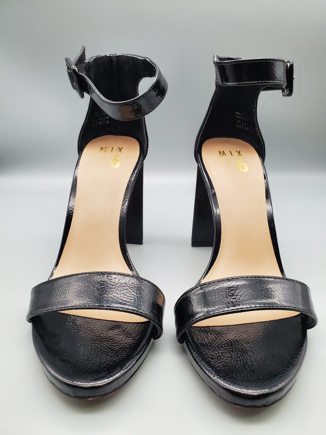 Photo #3 - BRAND: MIX NO 6 <BR>STYLE: SHOES HIGH HEEL <BR>COLOR: BLACK <BR>SIZE: 8.5 <BR>SKU: 115-115335-1958<BR>LITTLE TO NO WEAR/SCUFFING