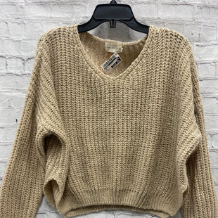 Primary Photo - BRAND: DREAMERS STYLE: SWEATER LIGHTWEIGHT COLOR: TAN SIZE: XS SKU: 115-115338-3594