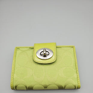 Primary Photo - BRAND: COACH O STYLE: WALLET COLOR: LIME GREEN SIZE: SMALL SKU: 115-115347-1062