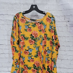 Primary Photo - BRAND:    CLOTHES MENTOR STYLE: TOP LONG SLEEVE COLOR: FLORAL SIZE: 2X OTHER INFO: MONNURO - YELLOW BLUE GREEN SKU: 115-115260-93596
