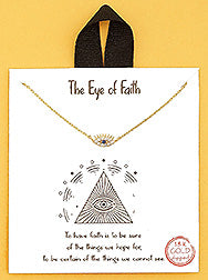 The Eye Of Faith Evil Eye Delicate Necklace