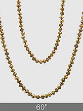 Load image into Gallery viewer, Faceted Glass Bead Long Necklace
