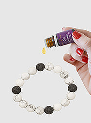 Aroma Oil Diffusion Jewelry Matte Stone Stretch Bracelet