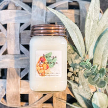 Load image into Gallery viewer, 16oz Mango Papaya Mason Jar Soy Candle