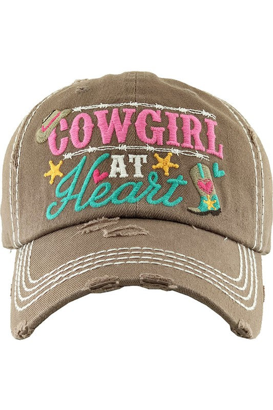 COWGIRL AT HEART Ball Cap