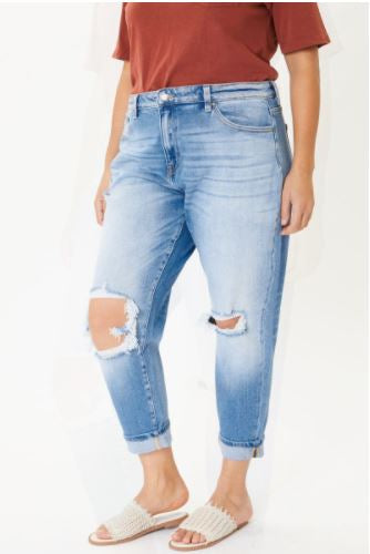 Emely Distressed Jean- Plus