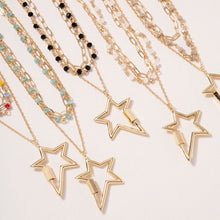 Load image into Gallery viewer, Star Charm Layered Necklace