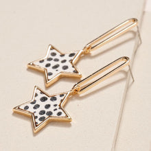 Load image into Gallery viewer, Animal Star Chain Linked Earrings