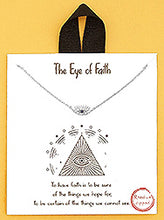Load image into Gallery viewer, The Eye Of Faith Evil Eye Delicate Necklace